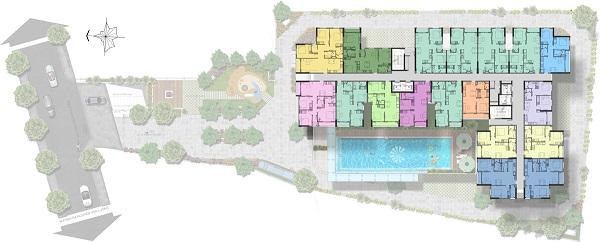 Mặt bằng tầng 3 - 16 tại dự án căn hộ Saigon Asiana