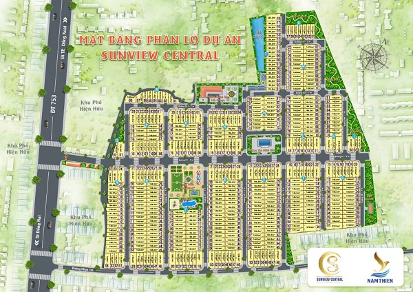 Mặt bằng tổng thể dự án khu dân cư Sunview Central