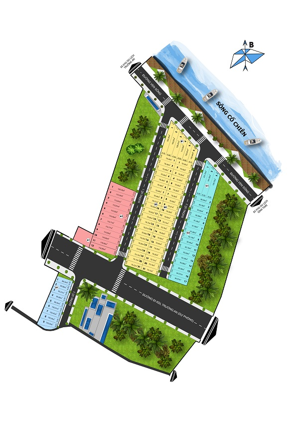 Mặt bằng tổng thể dự án khu đô thị sinh thái Trường An Riverside