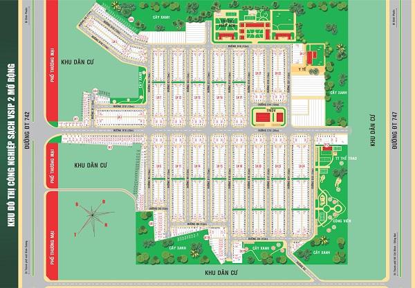 Mặt bằng tổng thể dự án khu phức hợp Hana Garden Mall