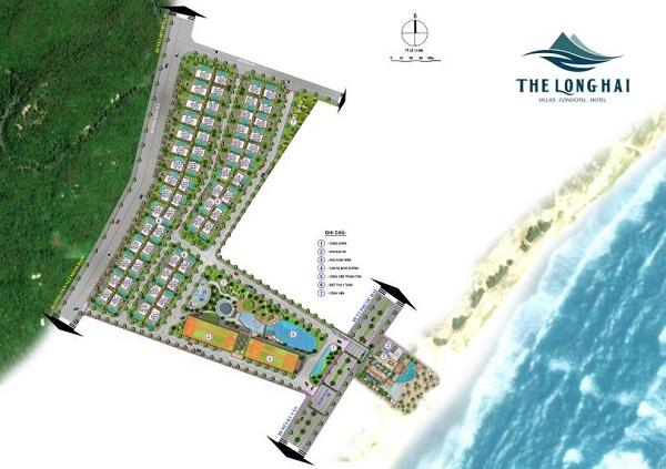 Mặt bằng tổng thể dự án The Long Hai Beach & Mountain Resort Vũng Tàu
