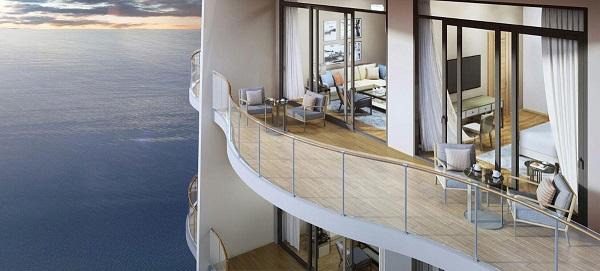 Phối cảnh căn hộ view biển tại dự án The Sóng