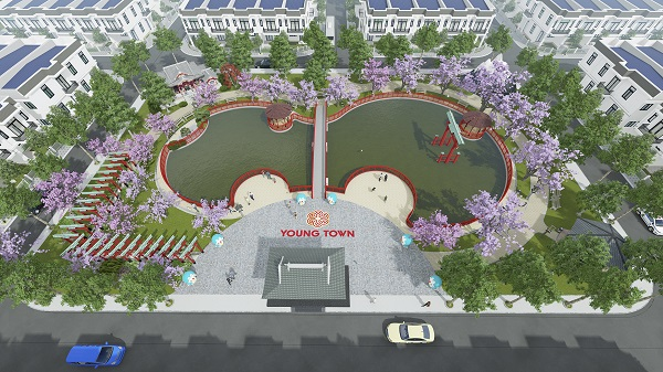 Phối cảnh công viên Osaka Park dự án Young Town Tây Bắc Sài Gòn