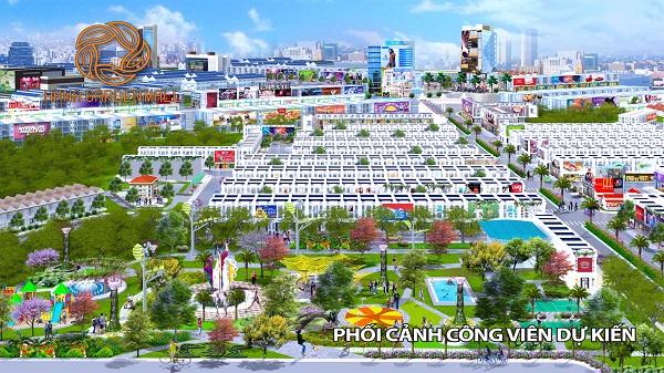 Phối cảnh công viên tại dự án khu phức hợp Hana Garden Mall