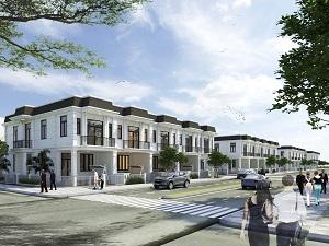 Phối cảnh dãy nhà phố liền kề tại dự án Young Town