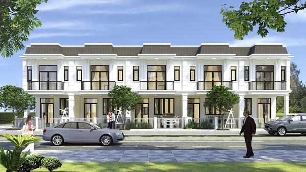 Phối cảnh dãy nhà phố liền kề tại dự án Young Town Tây Bắc Sài Gòn