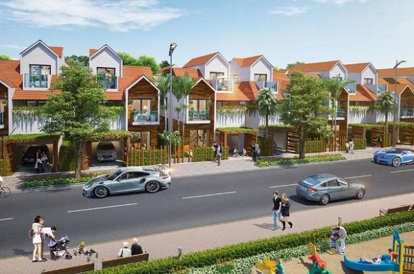 Phối cảnh khu Villa tại dự án Long Thành Central