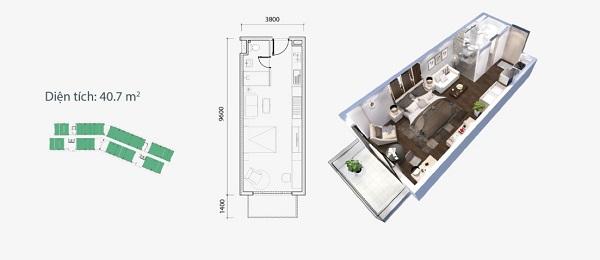 Thiết kế chi tiết căn hộ loại A dự án Ocean Vista