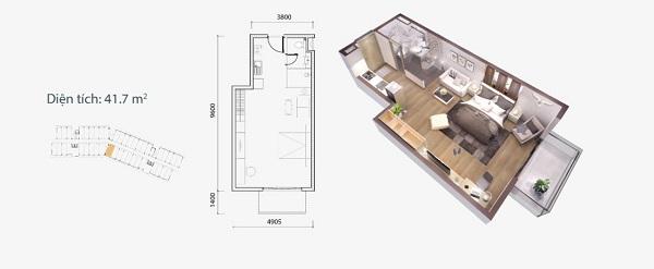 Thiết kế chi tiết căn hộ loại A1 Ocean Vista