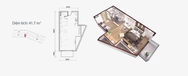 Thiết kế chi tiết căn hộ loại A2 Ocean Vista