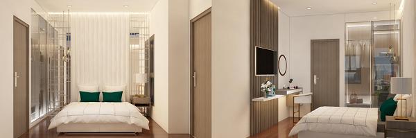 Thiết kế phòng khách, phòng ngủ và phòng vệ sinh căn hộ mẫu tại dự án Saigon Asiana