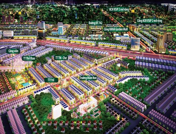 tiện ích nội khu dự án khu phức hợp Hana Garden Mall Bình Dương