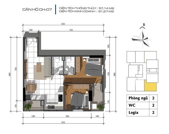Mặt bằng tầng điển hình và các căn hộ tại dự án Tecco Tower Bình Dương