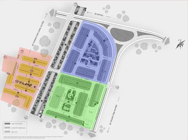 Dự án được chia thành 3 phân khu bao gồm: Hữu An, Hữu Phát và Hữu Thịnh