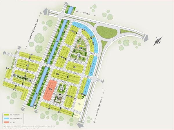 Mặt bằng tổng thể dự án khu đô thị TNR Stars Thoại Sơn