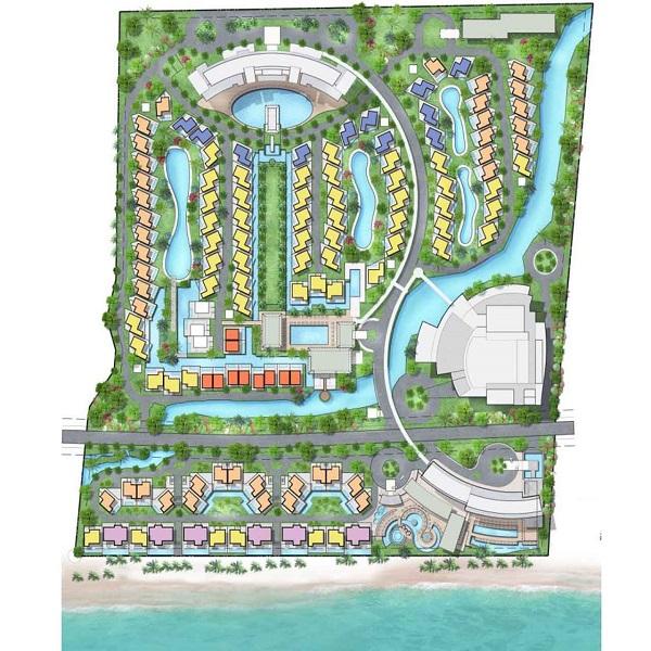 Mặt bằng tổng thể dự án tổ hợp nghỉ dưỡng Wyndham Tropicana