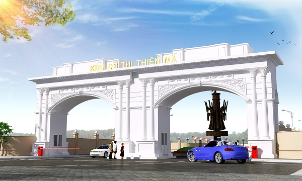 Phối cảnh cổng chào dự án khu đô thị Thiên Mã
