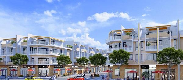 Phối cảnh nhà phố liền kề tại dự án khu dân cư Long Thành Phát Residence