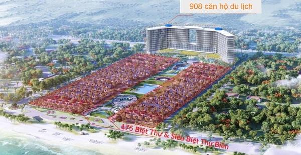 Phối cảnh tổng thể dự án quần thể khu nghỉ dưỡng Cam Ranh Bay