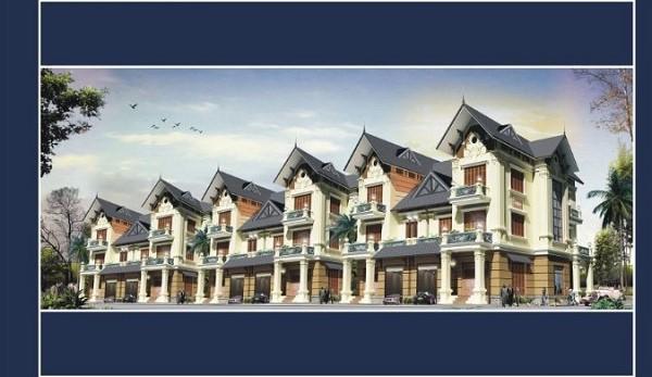Phối cảnh dãy biệt thự dự án khu đô thị Thiên Mã
