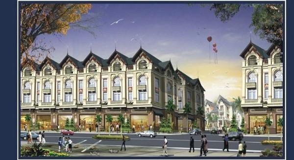 Phối cảnh dãy nhà liền kề dự án khu đô thị Thiên Mã