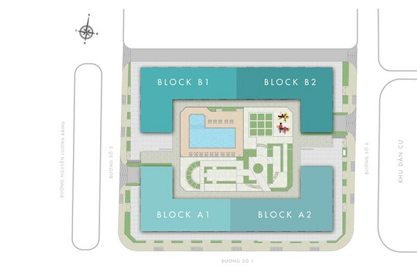 Q7 Boulevard được thiết kế với 4 block