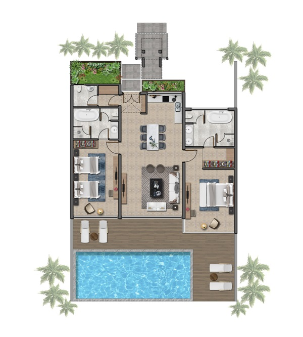 Thiết kế chi tiết biệt thự 120 m2 tại dự án Wyndham Tropicana