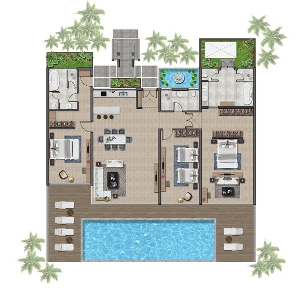Thiết kế chi tiết biệt thự 200 m2 tại dự án Wyndham Tropicana