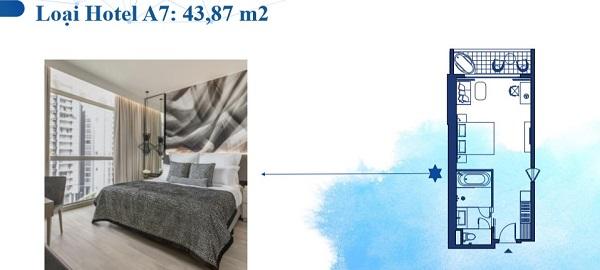 Thiết kế chi tiết hotel loại A7 43,87 m2