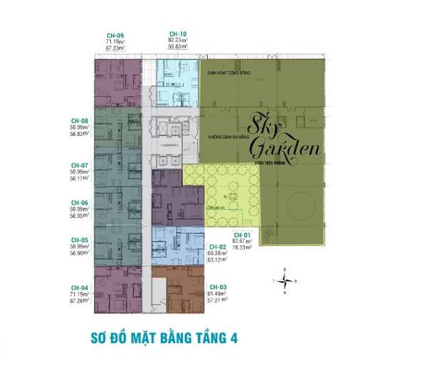 Mặt bằng tổng thể dự án căn hộ chung cư Bách Việt Areca Garden