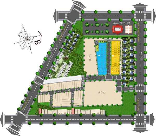 Mặt bằng tổng thể dự án khu dân cư Thịnh Vượng 2 Residence