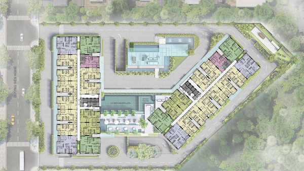 Mặt bằng tổng thể dự án căn hộ Ascent Garden Homes