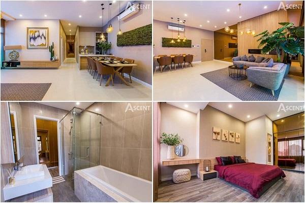 Phối cảnh căn hộ mẫu tại dự án Ascent Garden Homes
