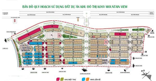 Bản đồ quy hoạch sử dụng đất dự án khu đô thị Kosy Mountain View