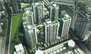 Phối cảnh khu CT1 - CT2 dự án khu căn hộ cao tầng Laimian City Quận 2