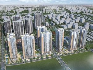 Phối cảnh khu CT3 - CT6 dự án khu căn hộ cao tầng Laimian City Quận 2