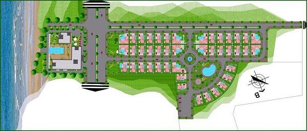 Mặt bằng phân lô dự án tổ hợp nghỉ dưỡng Tropical Ocean Villa & Resort