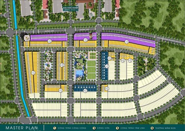 Mặt bằng tổng thể dự án khu dân cư Nghĩa Hành New Center