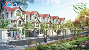 Phối cảnh dãy nhà và đường nội khu dự án Kosy Mountain View