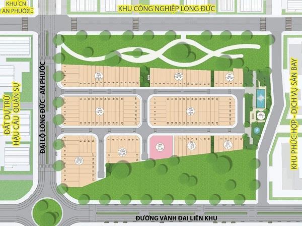 Mặt bằng tổng thể dự án khu dân cư Rich City