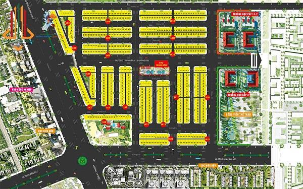 Mặt bằng phân lô dự án khu đo thị Hưng Thịnh Golden Land