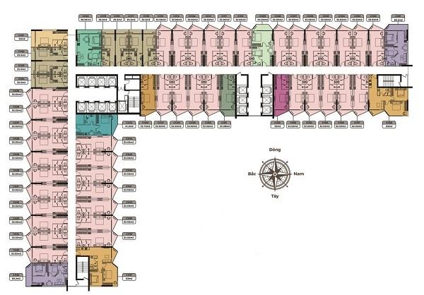 Mặt bằng tầng điển hình dự án căn hộ khách sạn Apec Mandala Wyndham Huế