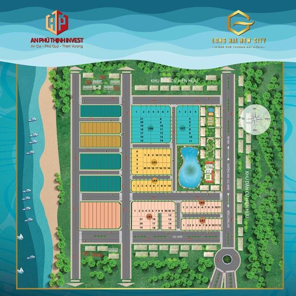 Mặt bằng tổng thể dự án khu dân cư Long Hải New City