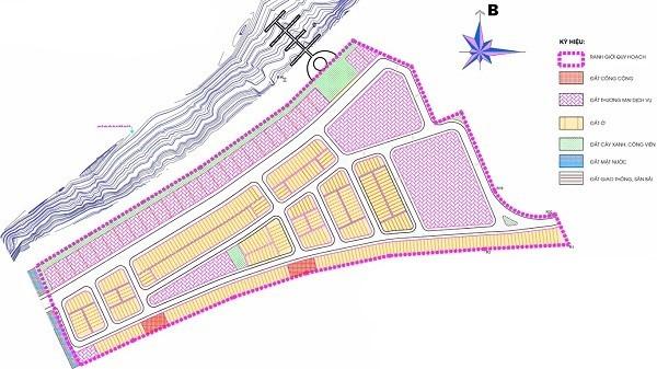 Mặt bằng quy hoạch sử dụng đất khu đô thị Nam Hội An City