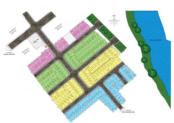 Mặt bằng phân lô dự án khu dân cư The Sun Residence