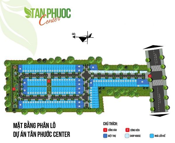 Mặt bằng phân lô dự án khu dân cư Tân Phước Center