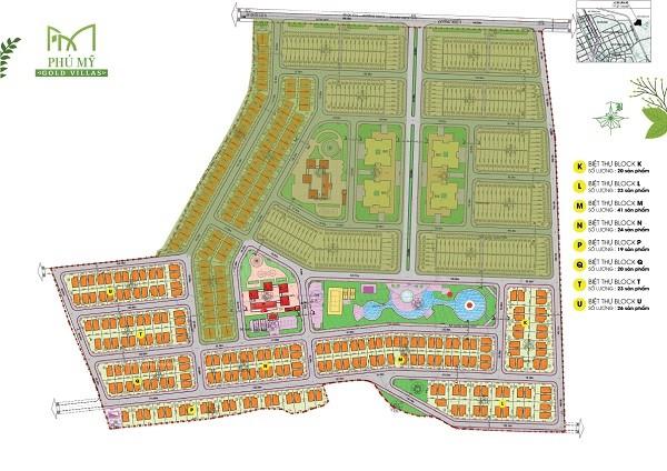Mặt bằng tổng thể dự án biệt thự Phú Mỹ Gold Villas
