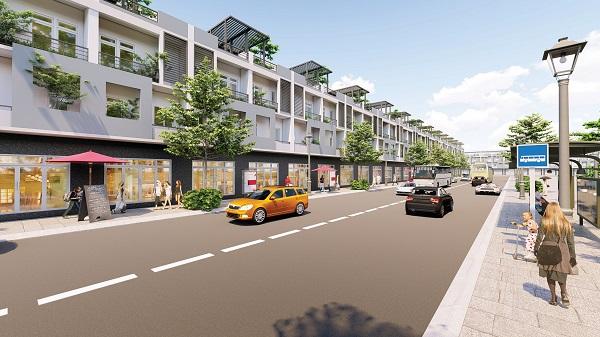 Phối cảnh các căn nhà phố thương mại tại dự án Mai Anh Mega Mall