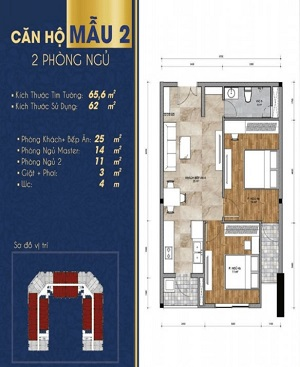 Thiết kế chi tiết căn hộ 1 – 2 phòng ngủ dự án Thịnh Gia Tower