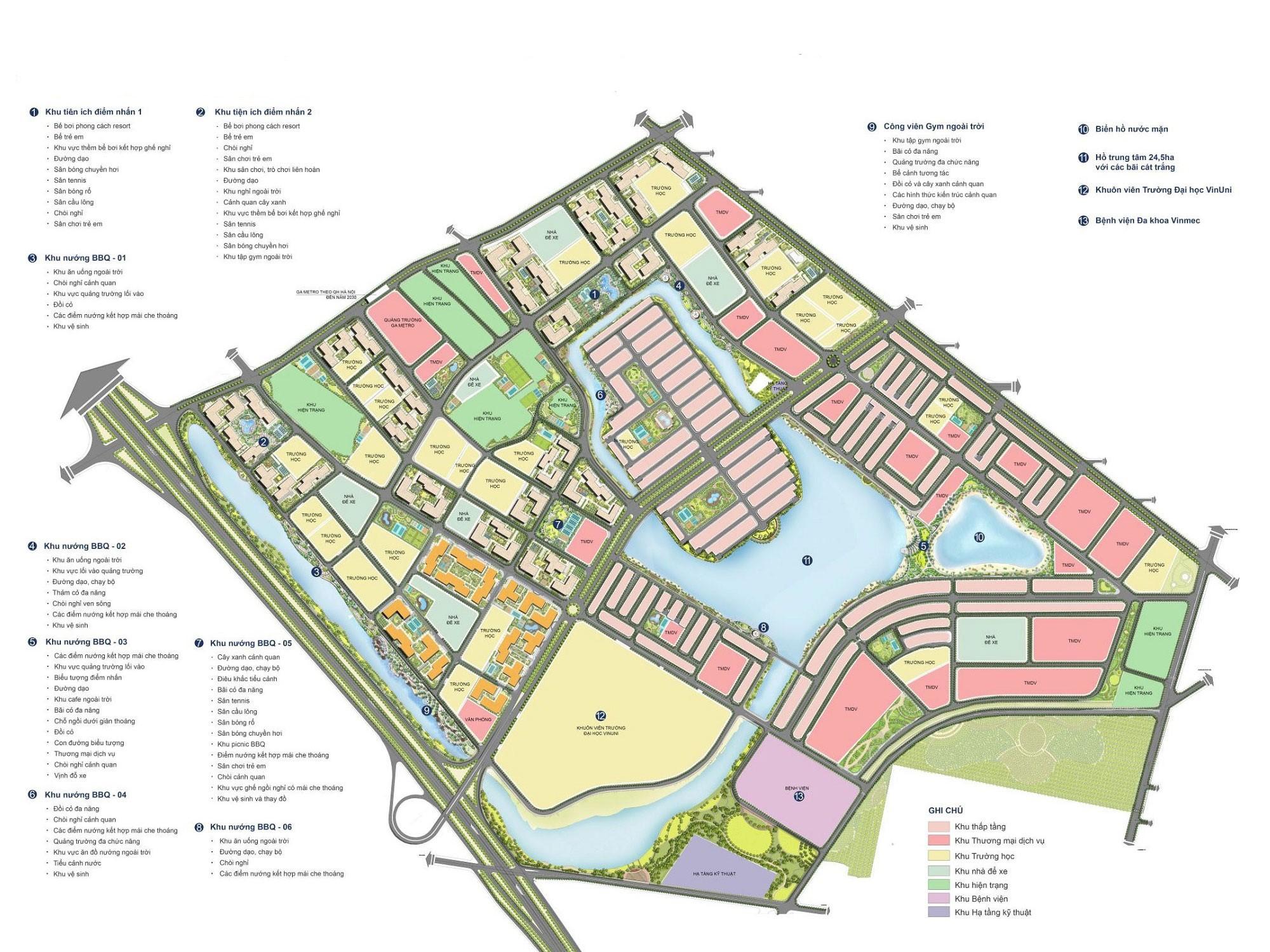 Mặt bằng tổng thể dự án khu đô thị Vinhomes Ocean Park